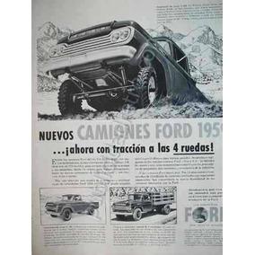 Publicidad Antigua Pick Up Ford Varios 1959