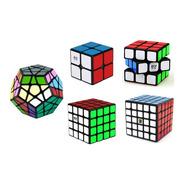Cubos Rubik Pack Set De 5 Puzzles Fondo Negro Velocidad