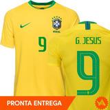 01d897a7d Camisa Seleção Brasileira 2017 Gabriel Jesus - Camisas de Seleções ...