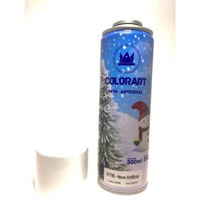 Spray Colorart Neve Artificial Natal Enfeite 300ml Decoração
