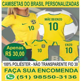 Camiseta Seleção Brasileira - Personalizada