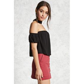 Blusa Choker Hombro Descubierto - Blusas de Mujer en Mercado Libre ... 1eff43304417