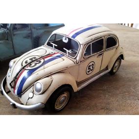 Miniatura Fusca Herbie Em Lata Artesanal.