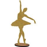 40 Bailarina Mdf 15 Cm Decoração Enfeite De Mesa Festa Luxo