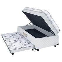 Cama Box Conjugada Bau Solteiro Somopar Espuma 60x88x188cm