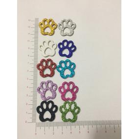 250 Piercings Adesivos Pet Shop Eva Com Glitter Pata