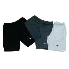 Jogo C/3 Bermudas Moleton Nike Masculina Shorts De Academia