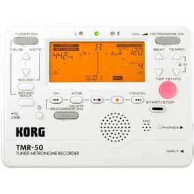 Afinador Metrônomo Gravador Digital Voz Korg Tmr-50 Pw