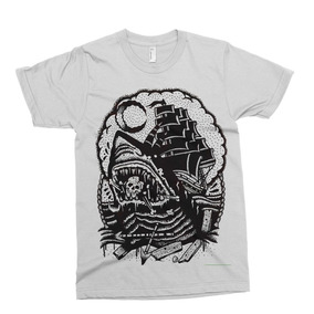 Remera Pirate Ship Tattoo Alternative Drop Dead Abandon Shi