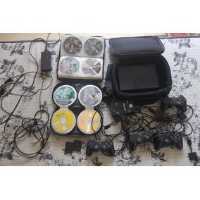 Playstation 2 Completo Com Muitos Acessórios E Jogos 4 Contr