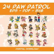 Pack 24 Vectores De Paw Patrol - Eps - Pdf - Svg