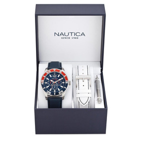 Reloj Nautica Box Set Para Caballero-a14669g
