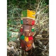 Mayanshop. Totems Mayas De Madera Talladas A Mano