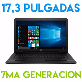 Notebook Hp Core I7 7500u 17 Pulgadas 8gb Ddr4 1tb 7ma 17,3