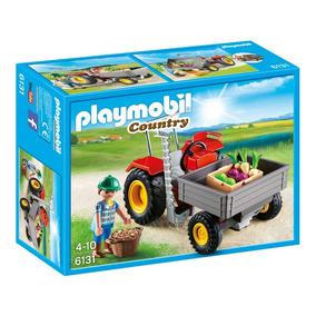 Oferta Set Playmobil 6131 Tractor Cosechadora Granja *