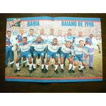 Poster Bahia E Juventude Rs Campeão 1998 Placar Frete Gratis