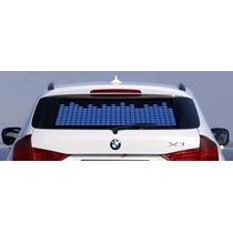 Cor Azul -painel Adesivo Led Equalizador Automotivo