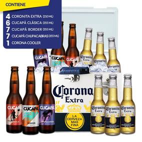 Hielera Corona + 4 Cerveza Coronita + 20 Cerveza Cucapá