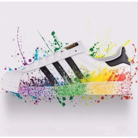 adidas Superstar Originales! Blancas, Metal ! Tornasoladas!