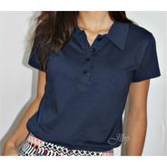Camisa Polo Feminina Lisa Em Cores - Malha 100% Algodão 30.