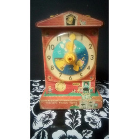 Reloj De Juguete Fisher Price Antiguo 1960