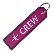 Llavero Bordado Crew Para Amantes De La Aviación