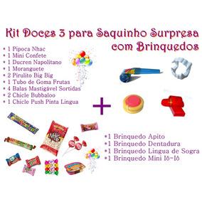 Kit Doces 3 + Kit Brinquedos Para Saquinho Surpresa