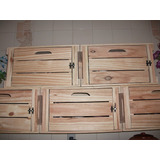Caixotes De Feira Padrão Com Porta ( Madeira ) Novo