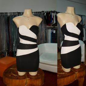 Vestido Strapless De Algodon Y Lycra. ..