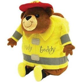 Mochila Niños Teddy Bombero Amarillo