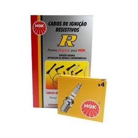 Jogo Cabos + Velas Ngk Celta 1.0 Corsa 1.0 8v Gasolina Mpfi