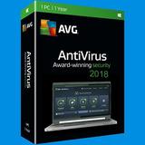 Antivirus Avg Internet Security 2018-licencia De 1 Año 3 Pc