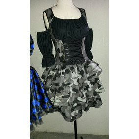 Vestido Fantasia Feminina Camuflado/ Soldado Urbano M