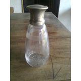 Vendo Botella De Cristal Con Gollete De Plata Antigua