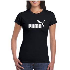Camiseta Algodão Preta Fem Puma Baby Look Pp Ao G5