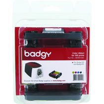 Cinta De Color Ribbon Para Impresora Badgy 100 De Pvc