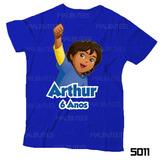 Lembrança De Aniversário Diego Go Camiseta Dora Infantil