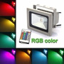Reflector Led 10w Rgb Full Color C. Control Remoto