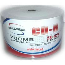 50 Cd-r Imprimible Sdata 700mb Calidad Tienda Los 2 Caminos