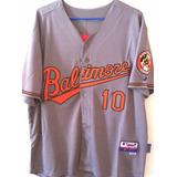 Camisa Baltimore Orioles Adam Jones #10 Majestic Elite