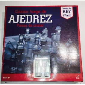 Ajedrez Cristal 25 X 25 Cristal Juego Mesa Mediano Envio Inc