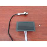 Tacometro Digital 4 Dígitos Azul Rpm, Sensor Proximidad Npn