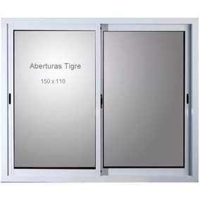 Ventana Aluminio Blanco 150 X 110 Cm Vidrio 4mm