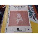Roberto Carlos Yo Solo Quiero Un Millón De Amigos Partitura