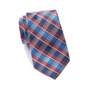 Corbata Nautica Norwell Plaid Silk Tie Seda 100% Original