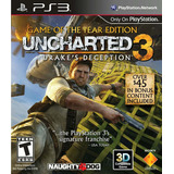 Uncharted 3 Ps3 Goty Fisico