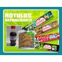 20 Rótulos De Refrigerante Personalizados - Kits