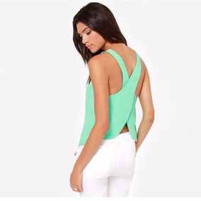 Tops De Mangas Sexy Backless