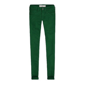 Calça Abercrombie & Fitch Women Jegging Verde Jeans 4r / 27w