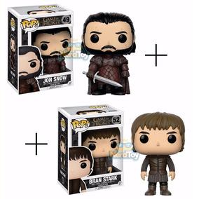 Funko Pop Game Of Thrones - Jon Snow 49 + Bran Stark 52